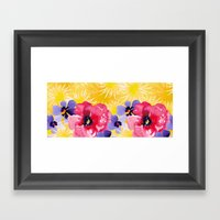 Yellow Peony Framed Art Print
