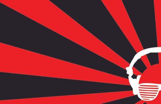 Rising DJ Red Canvas Print