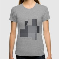 Grey Map  Womens Fitted Tee Tri-Grey SMALL