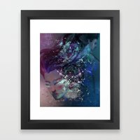 Black Hole Apprehension Framed Art Print