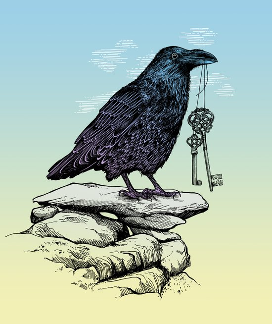 Raven's Keys Art Print