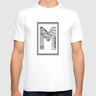 Zentangle M Monogram Alp… Mens Fitted Tee White SMALL