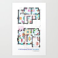The House Of Simpson Fam… Art Print