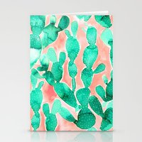 Paddle Cactus Blush Stationery Cards