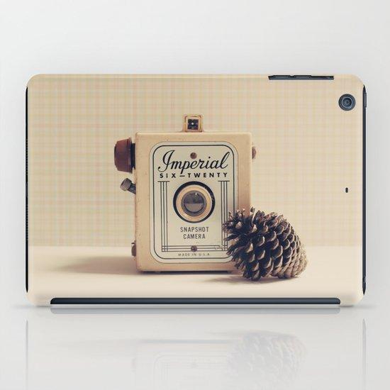 Retro Camera and Pine Cone iPad Case