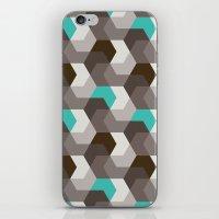 Chocomint Hexagons iPhone & iPod Skin