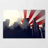 Chicago Vector Cityscape Canvas Print