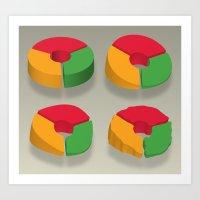 Data Deflated (Pt II) Art Print