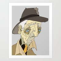 Can ya spare some cutter, me brothers?  Art Print