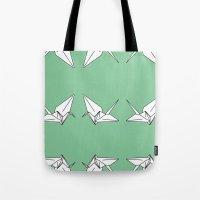 Paper Crane Motif, 2013. Tote Bag