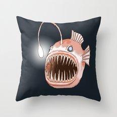 Anglerfish Throw Pillow