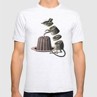 Deconstructed Mouse Mens Fitted Tee Ash Grey SMALL