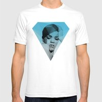 Rihanna Mens Fitted Tee White SMALL