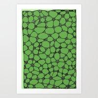 Yzor Pattern 006-4 Kitai… Art Print