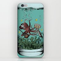 Musical Octopus Print iPhone & iPod Skin