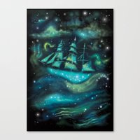 Space Ship Canvas Print