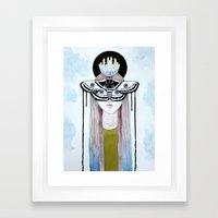 moth queen Framed Art Print