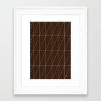Brown Triangles By Frizt… Framed Art Print