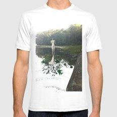 Gladys on Water White SMALL Mens Fitted Tee