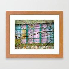 Backyard Abstract Framed Art Print