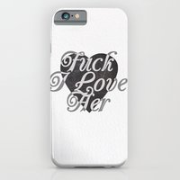 iPhone & iPod Case featuring FuckLove by RoarsAdams