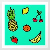 Fun & Fruity Art Print