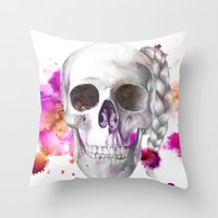 Braided Skull Throw Pillow