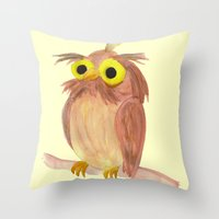 The Nice Owl Throw Pillow