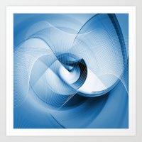 Fractal In Blue Art Print