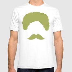 Moustache2 Mens Fitted Tee White SMALL