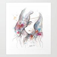 Spring 2015, watercolor Art Print