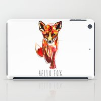 Cute Little Red Fox water colour ink iPad Case