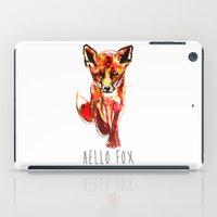 Cute Little Red Fox Wate… iPad Case