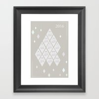 2016 Calendar - Diamonds Framed Art Print