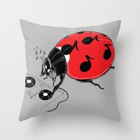 DJ BeatLE  Throw Pillow