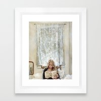 Morning Read Framed Art Print