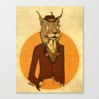 {Bosque Animal} Lince Canvas Print