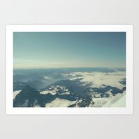 Amidst The Summit - Mt. … Art Print