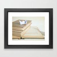 Sailing Through Stories Framed Art Print
