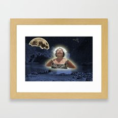Nightswimming Framed Art Print