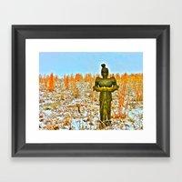 Winter's Knight Framed Art Print