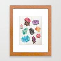 Raw Gems Framed Art Print