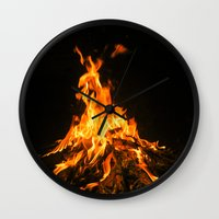 Bonfire (lohri) Wall Clock