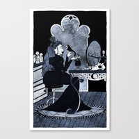lonely witch Canvas Print
