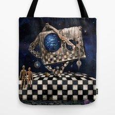 Aqua Space Tote Bag