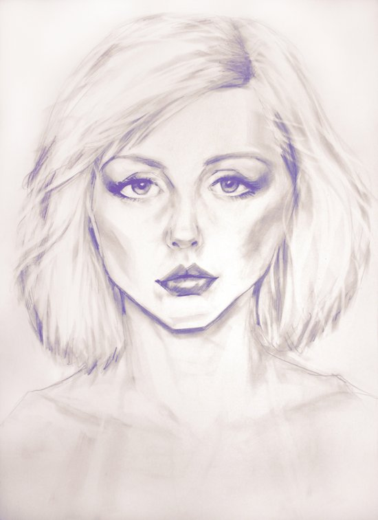 Debbie Harry from Andy Warhol famous picture Art Print