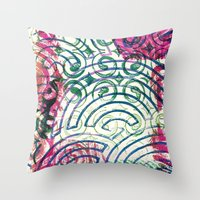 Ghosting green to pink Throw Pillow