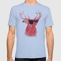 Young Buck. Mens Fitted Tee Athletic Blue SMALL