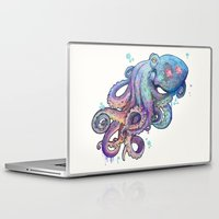octopus Laptop & iPad Skins featuring octopus  by Laura Graves