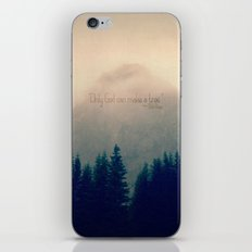 Only God Can Make a Tree iPhone & iPod Skin
